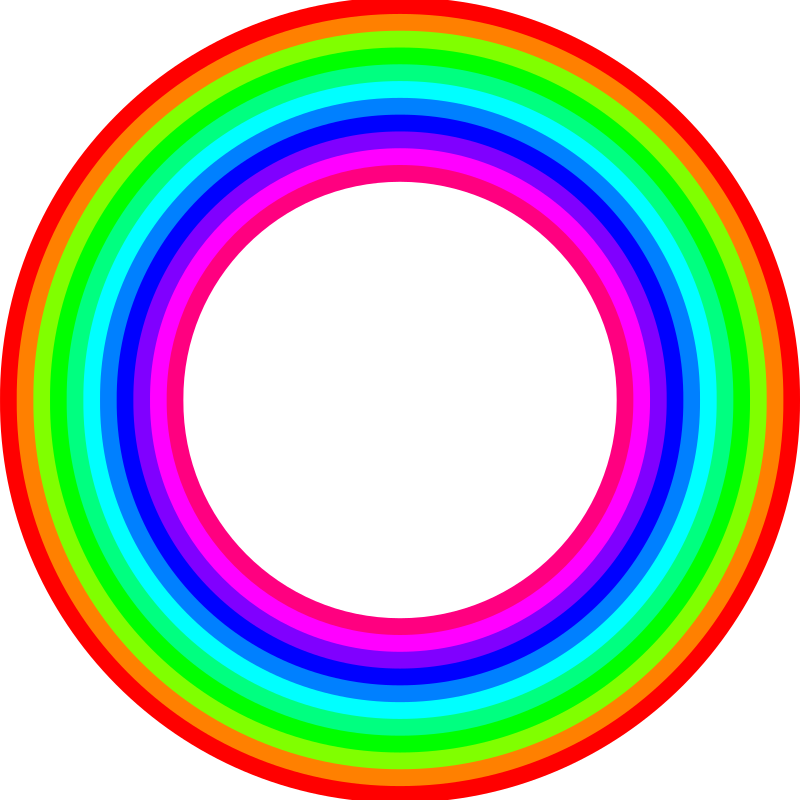 Donut clipart circle. Color rainbow medium image