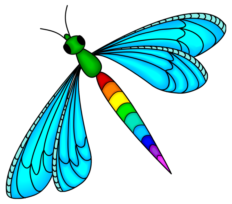 Rainbow by kellyta on. Dragonfly clipart psychedelic