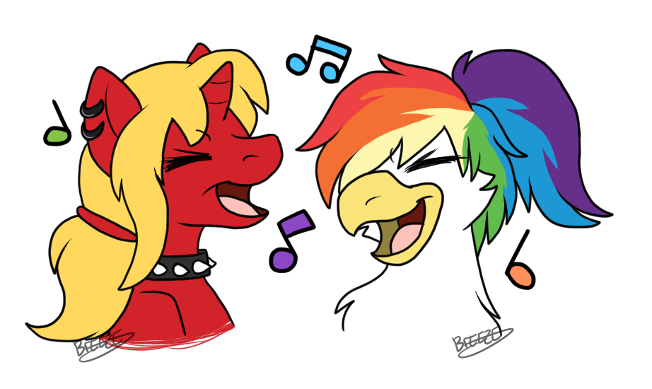 Melissa and the band. Clipart rainbow feather