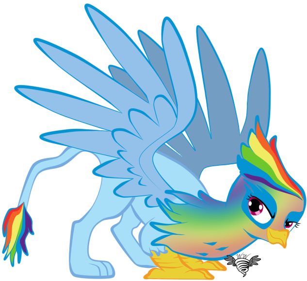 Fast flashy feathers dash. Clipart rainbow feather