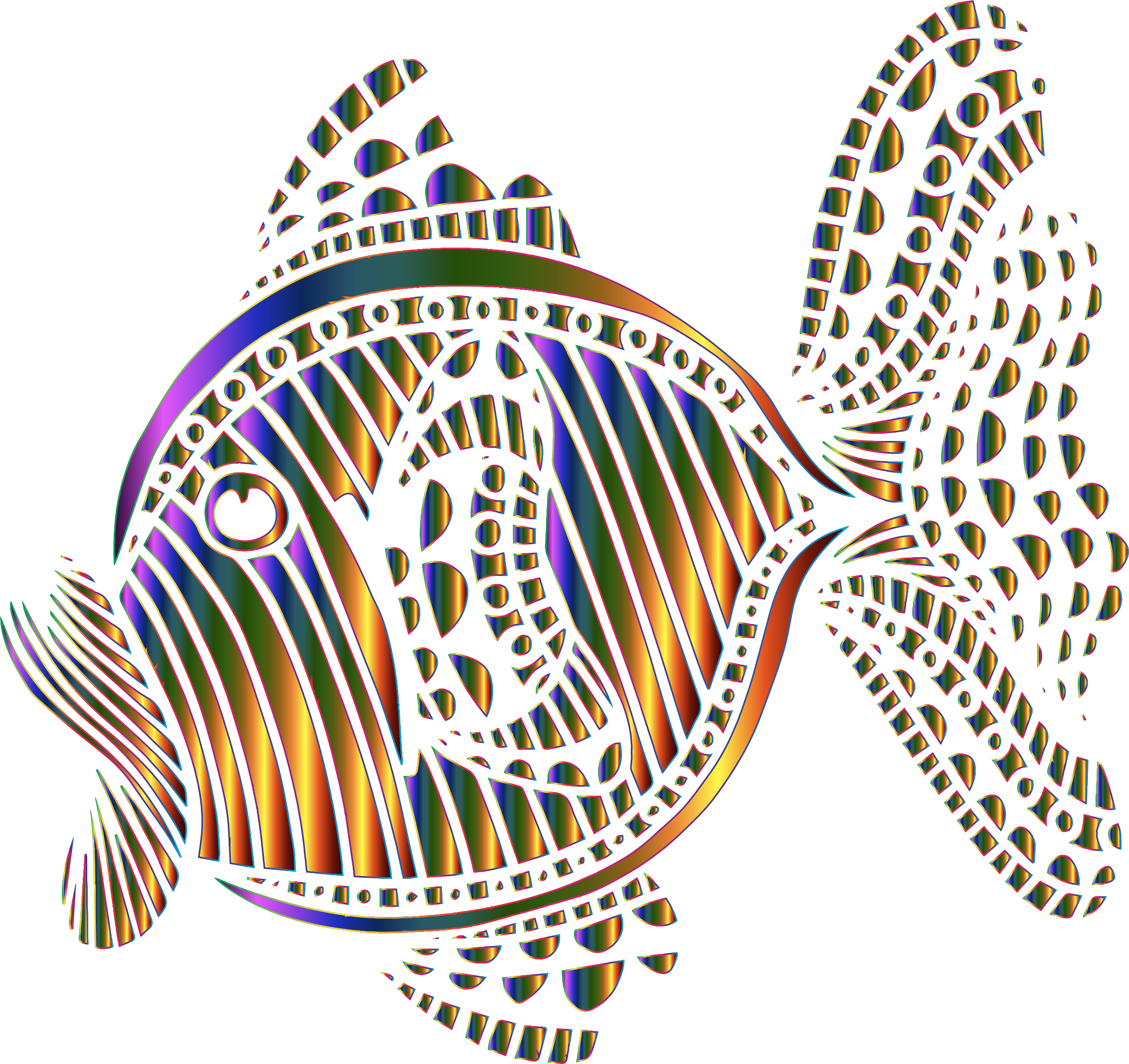 Fish clipart colorful. Abstract big image png