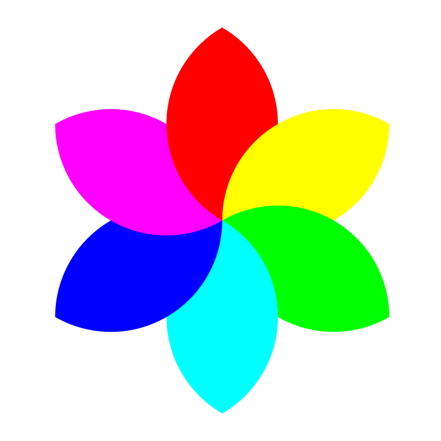 Clipart rainbow flower.  collection of small