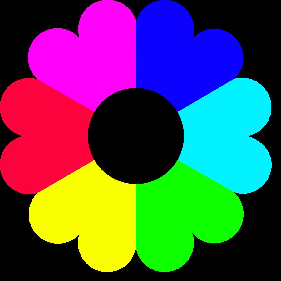Free download best x. Flower clipart rainbow