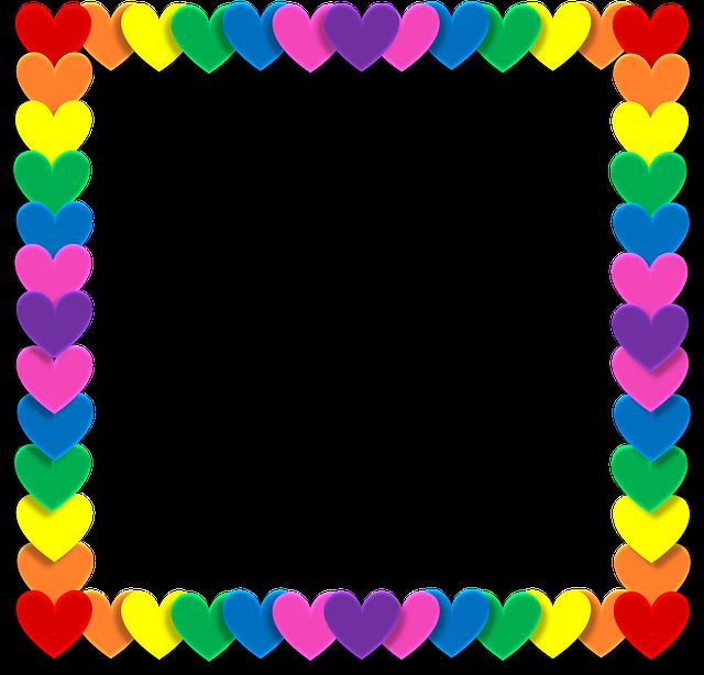 Rainbow border png.  pixabay valentine