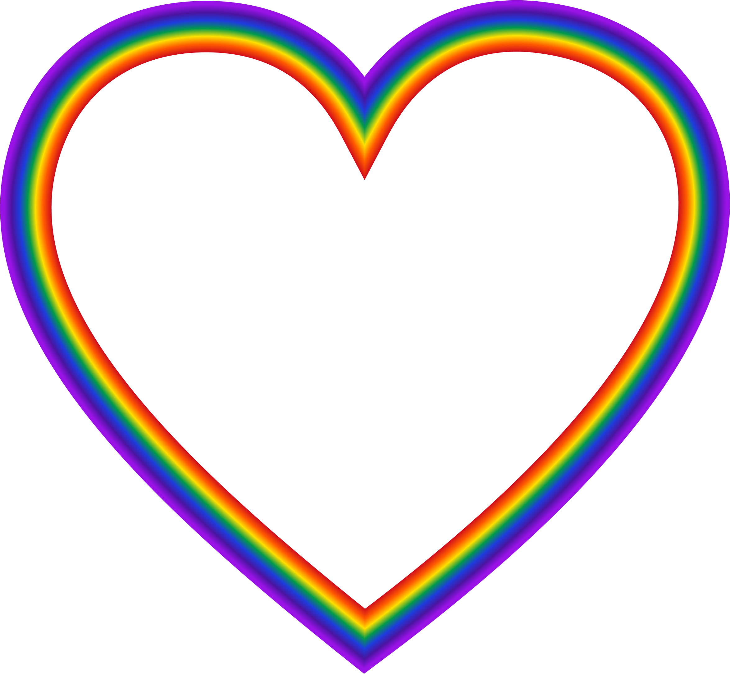 Clipart heart big image. Rainbow hearts png
