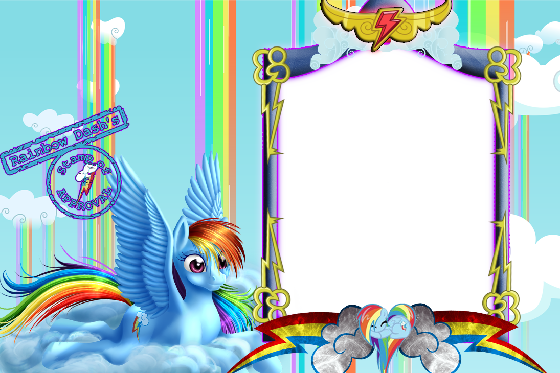 Dash by writerfairy on. Clipart rainbow frame