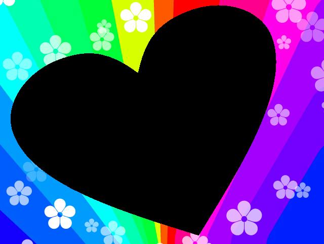 Clipart rainbow frame. Heart by kreatie katie
