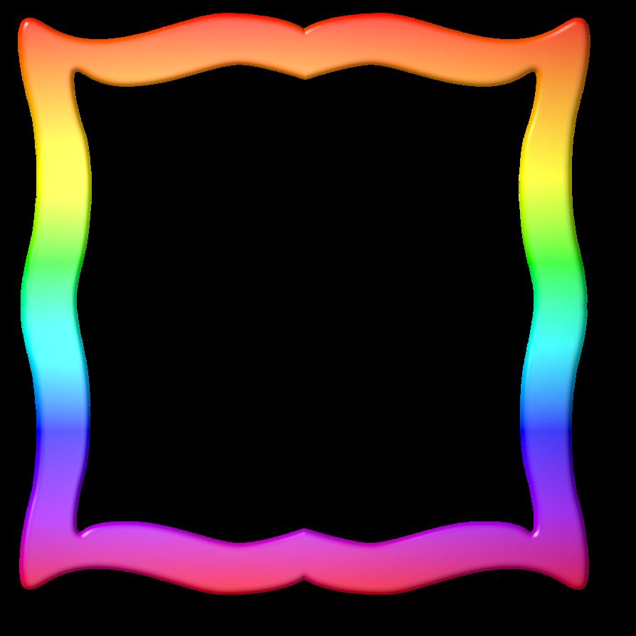 Rainbow frame png. By lashonda on deviantart