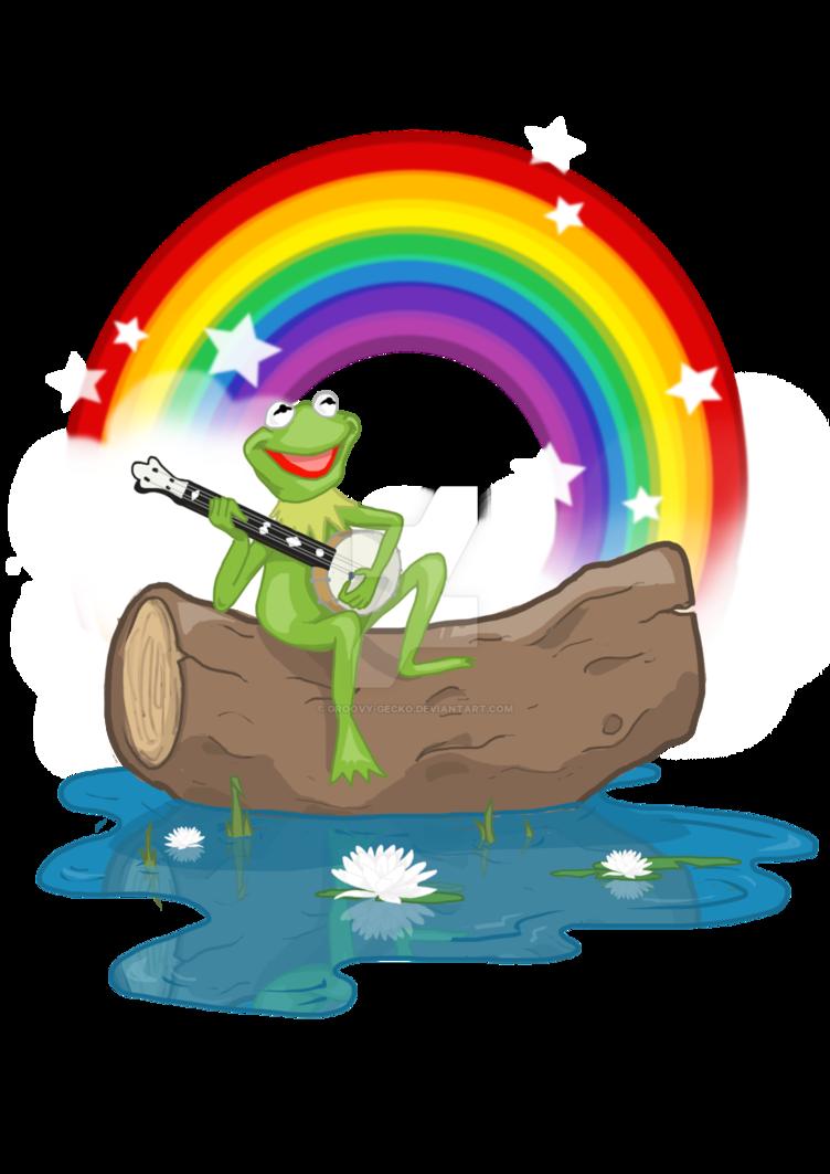 The connection by groovy. Gecko clipart rainbow