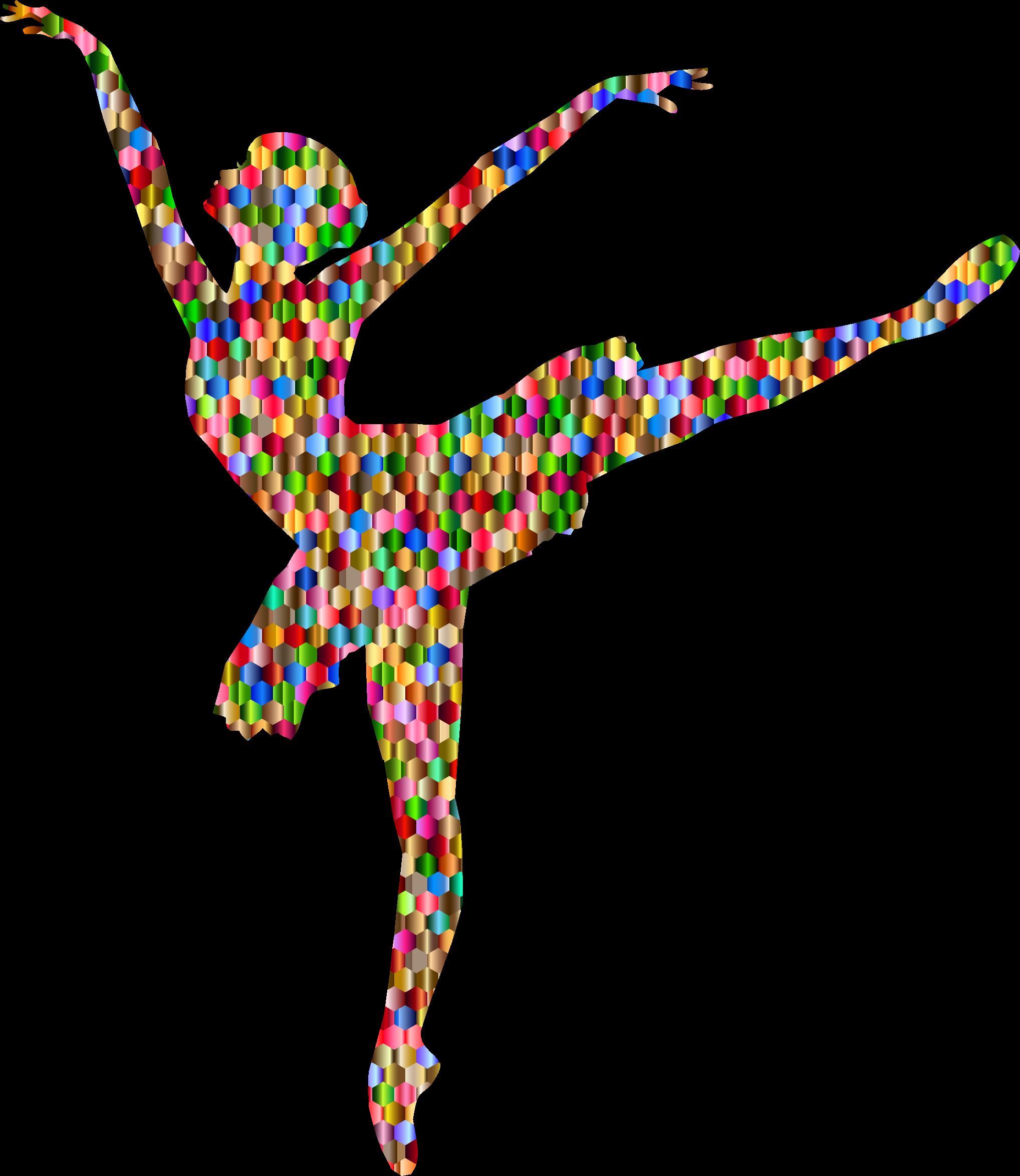 Gecko clipart rainbow. Chromatic hexagonal graceful ballerina