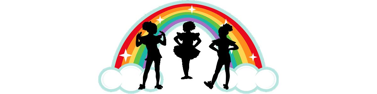 Sisters . Clipart rainbow glitter