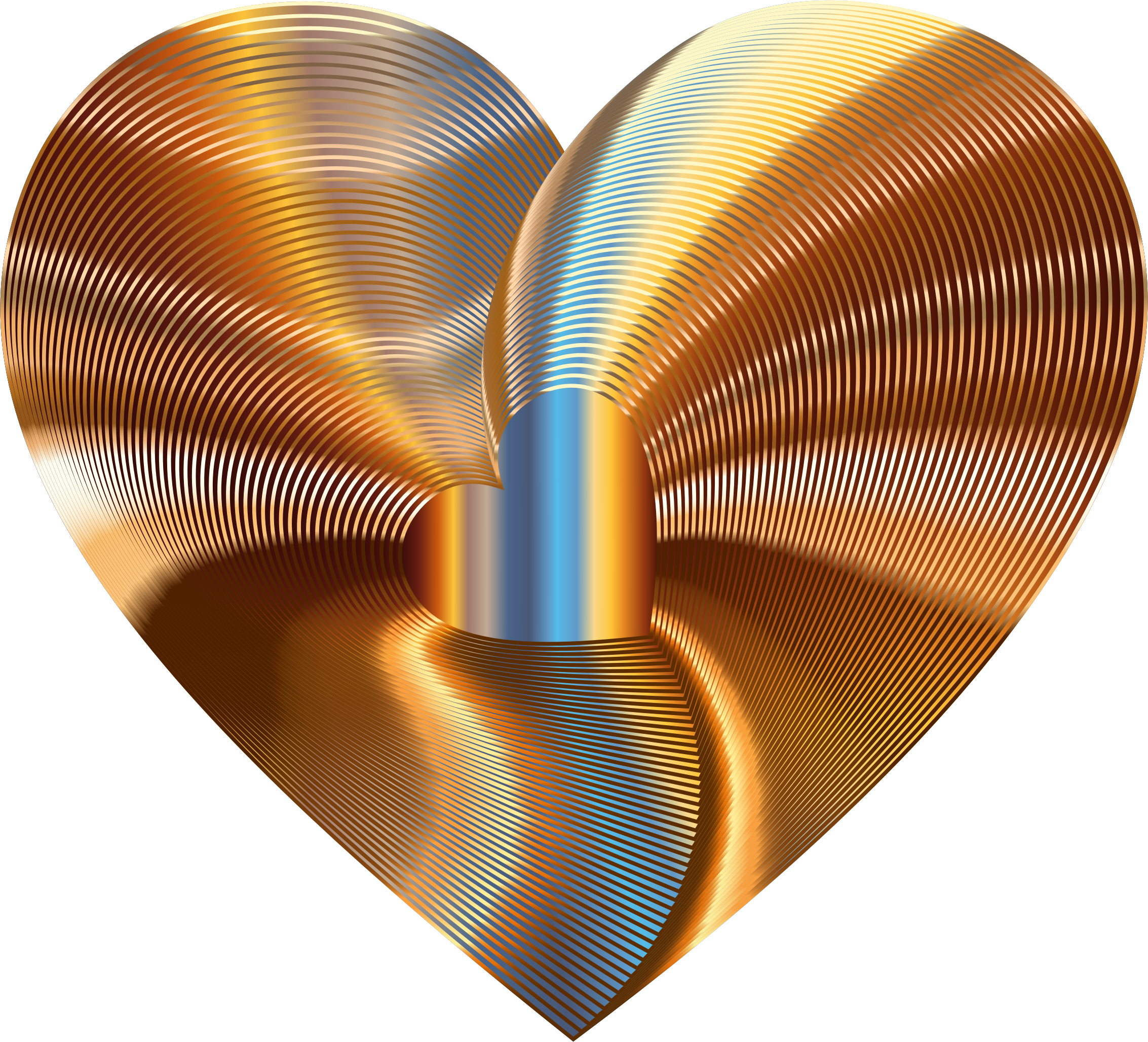 Number 3 clipart golden. Heart of the rainbow