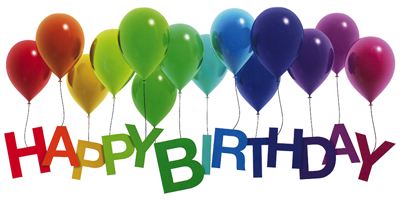 Happy birthday images png. Rainbow balloons by lilyas