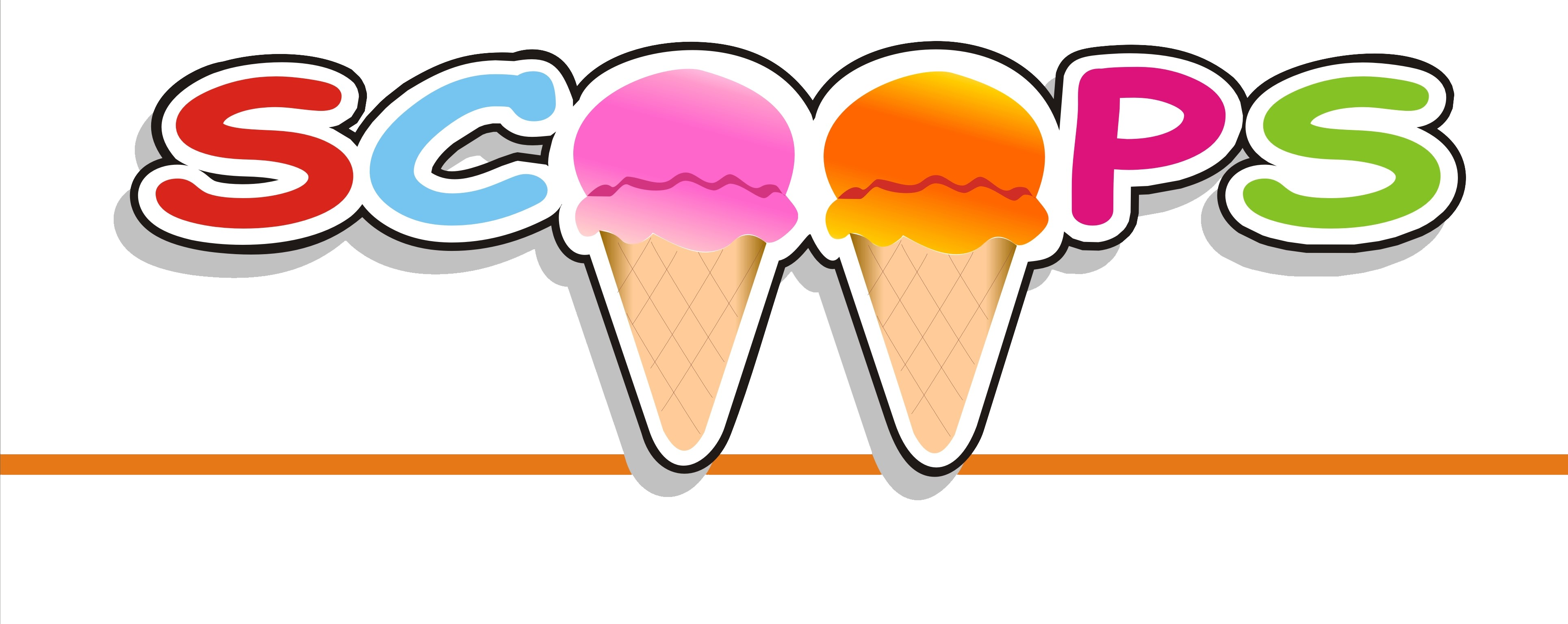 The original scoops ice. Icecream clipart party