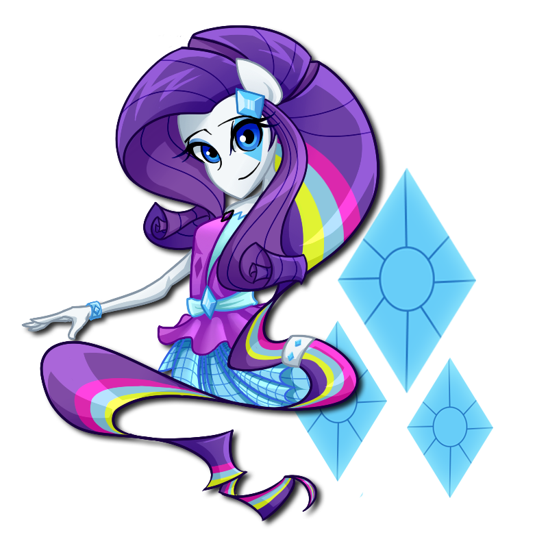 Equestria girl rock rarity. Clipart rainbow jellyfish