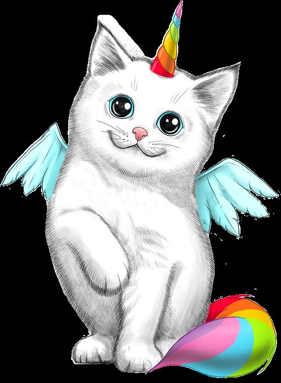 kitten clipart rainbow