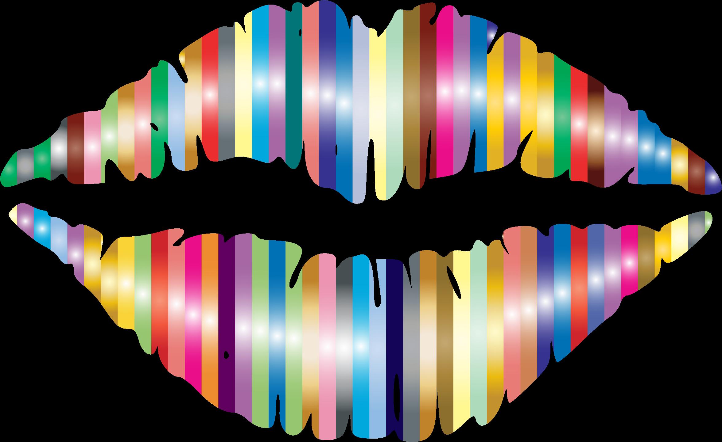 lipstick clipart rainbow