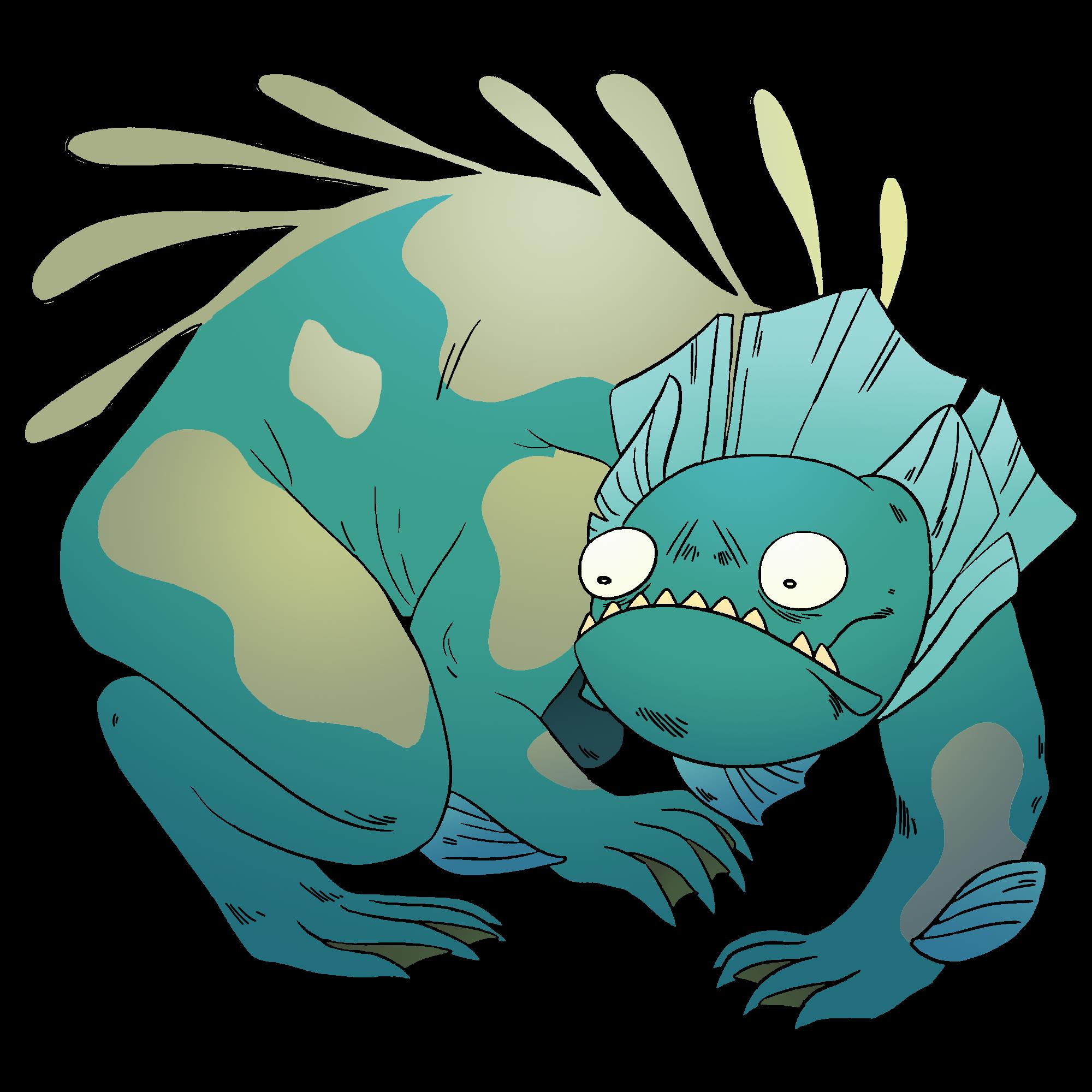 Manatee clipart baby manatee. Monster lizard gem steven