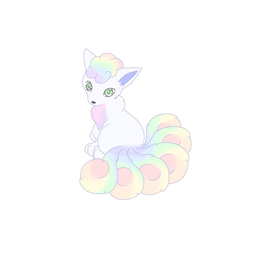 Clipart rainbow llama. Vulpix by shade of