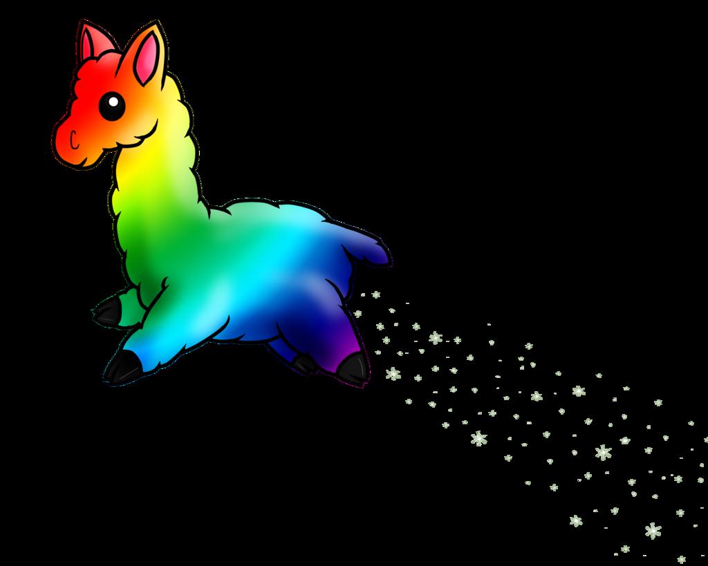 By terrabird on deviantart. Clipart rainbow llama