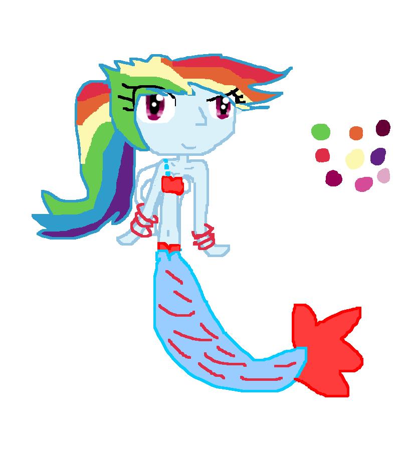 Dash by marioponyfan on. Clipart rainbow mermaid
