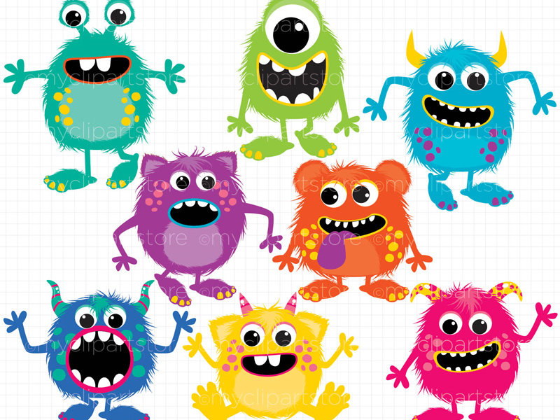 Fluffy by linda murray. Friendly clipart monsters