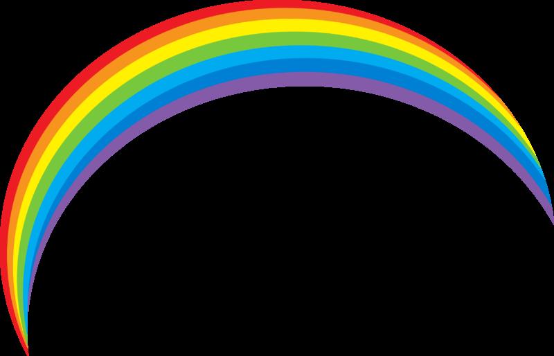 clipart rainbow mustache