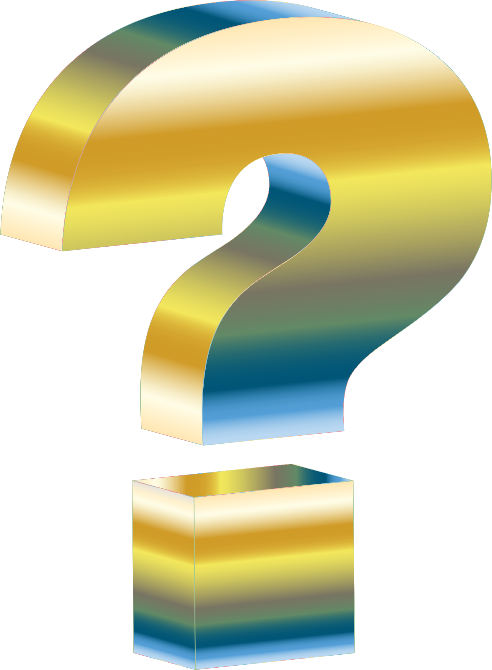 Number 1 clipart question. Harmonic rainbow d mark
