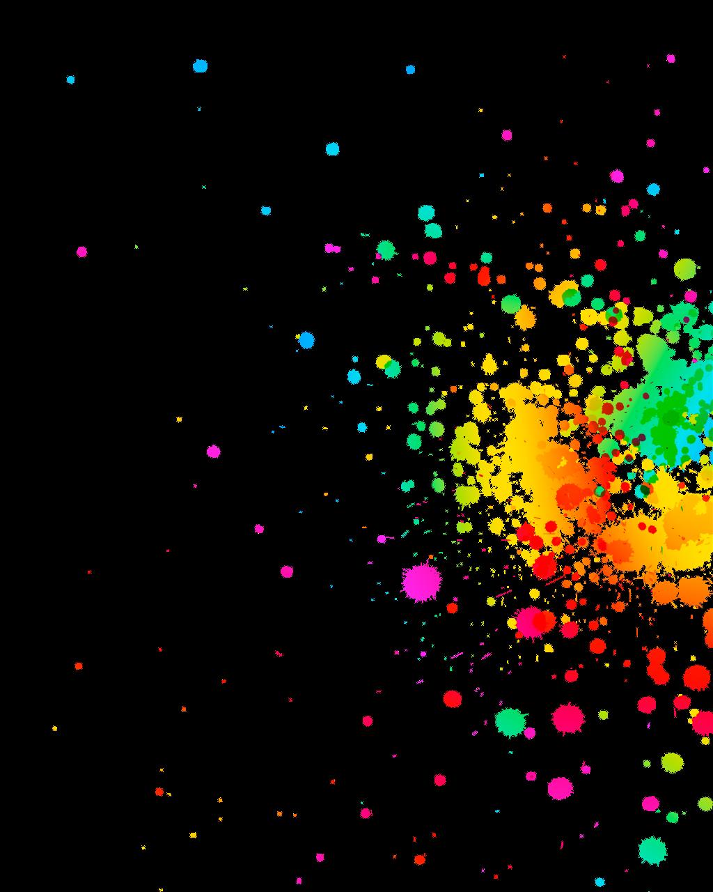 Clipart rainbow paint. Splatter remixit