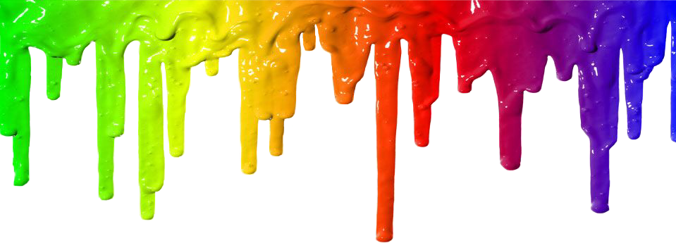 Interesting art drips drops. Clipart rainbow paint