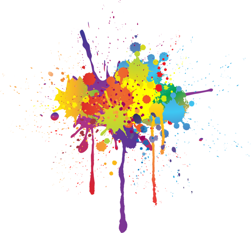 Splatter remixit . Clipart rainbow paint