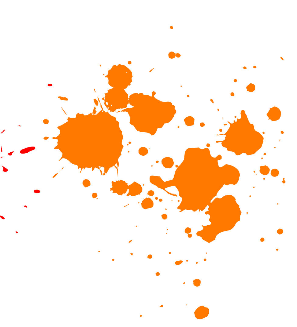 Orange splatter transparent png. Splash clipart paint splotch