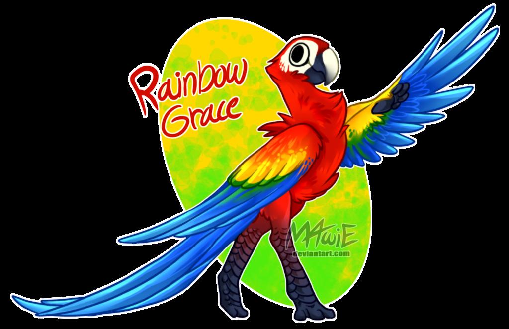 Custom byubuu grace by. Clipart rainbow parrot