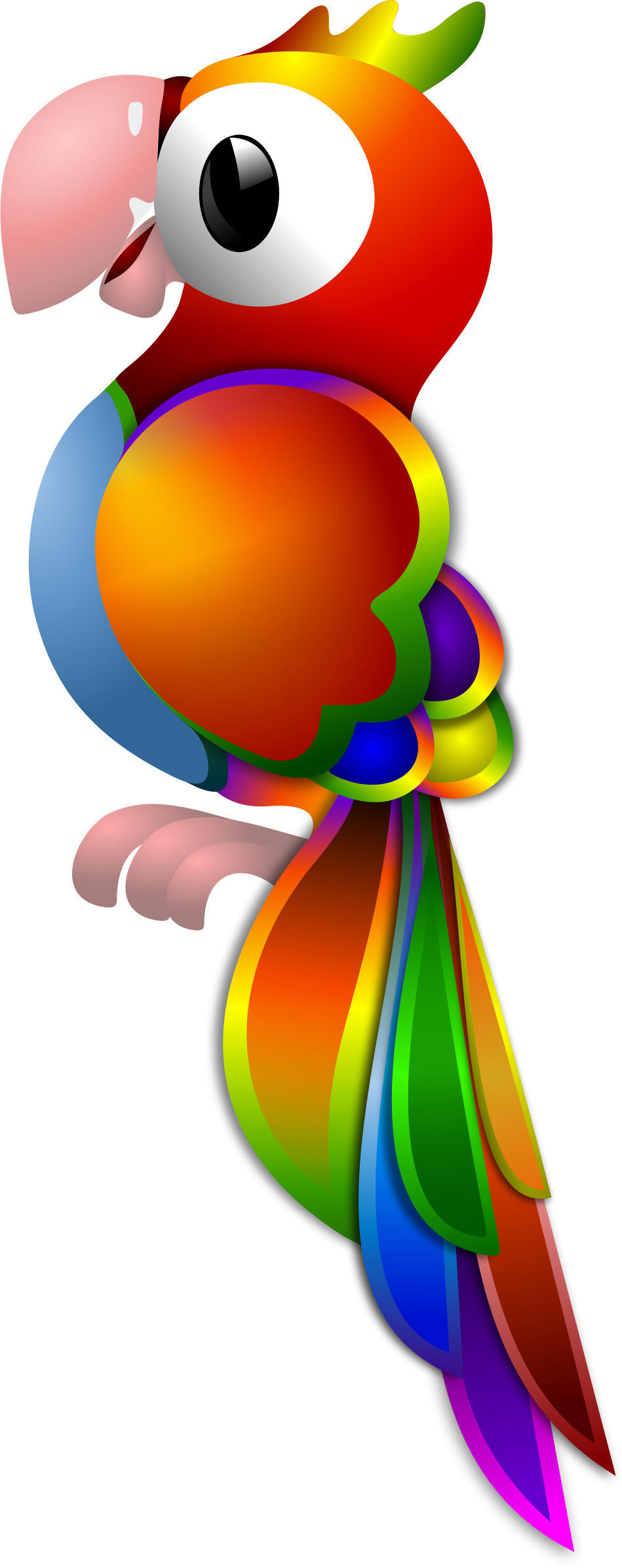 Clipart rainbow parrot. Remix by merlin my