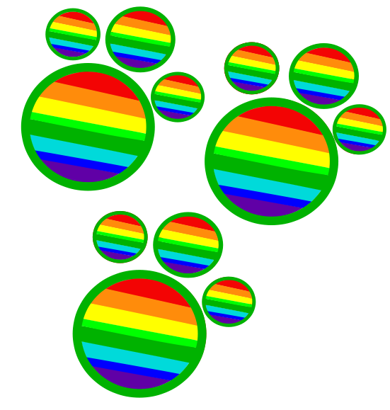 Paws cutie mark by. Paw clipart rainbow
