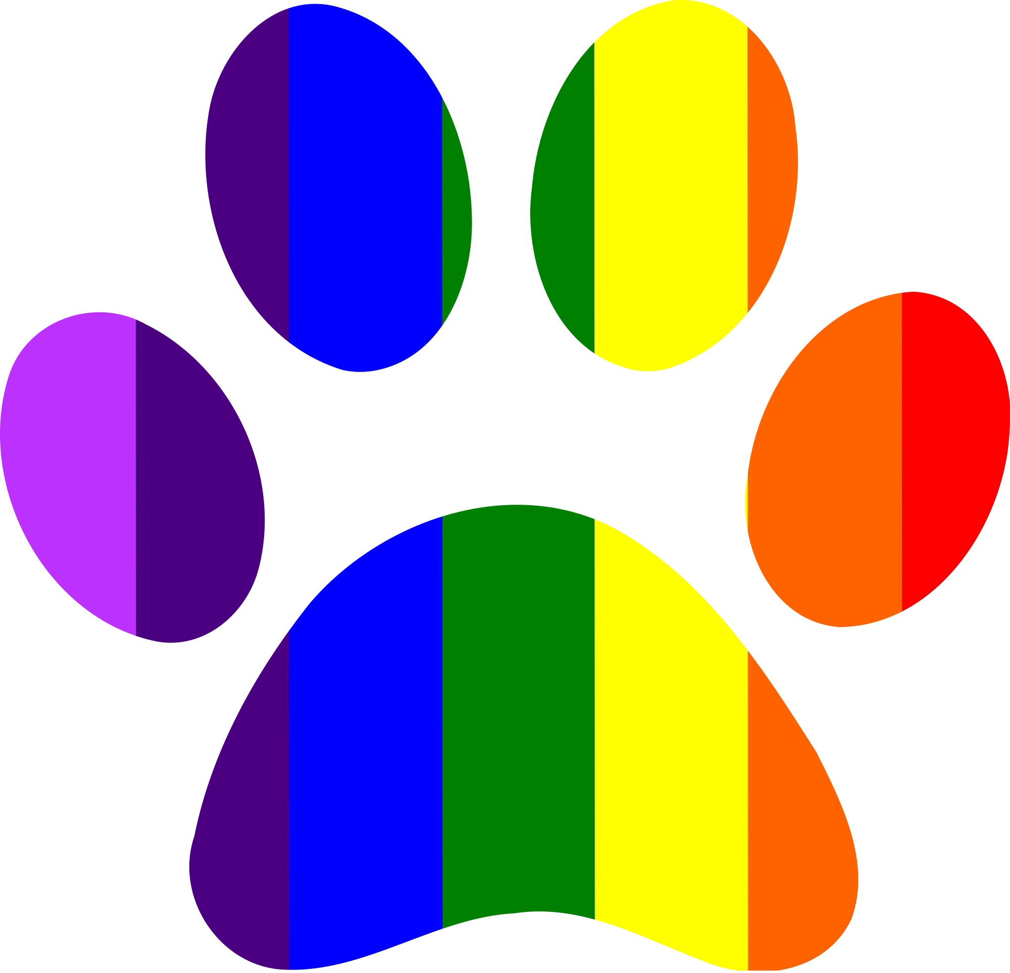 Free on dumielauxepices net. Paw clipart rainbow
