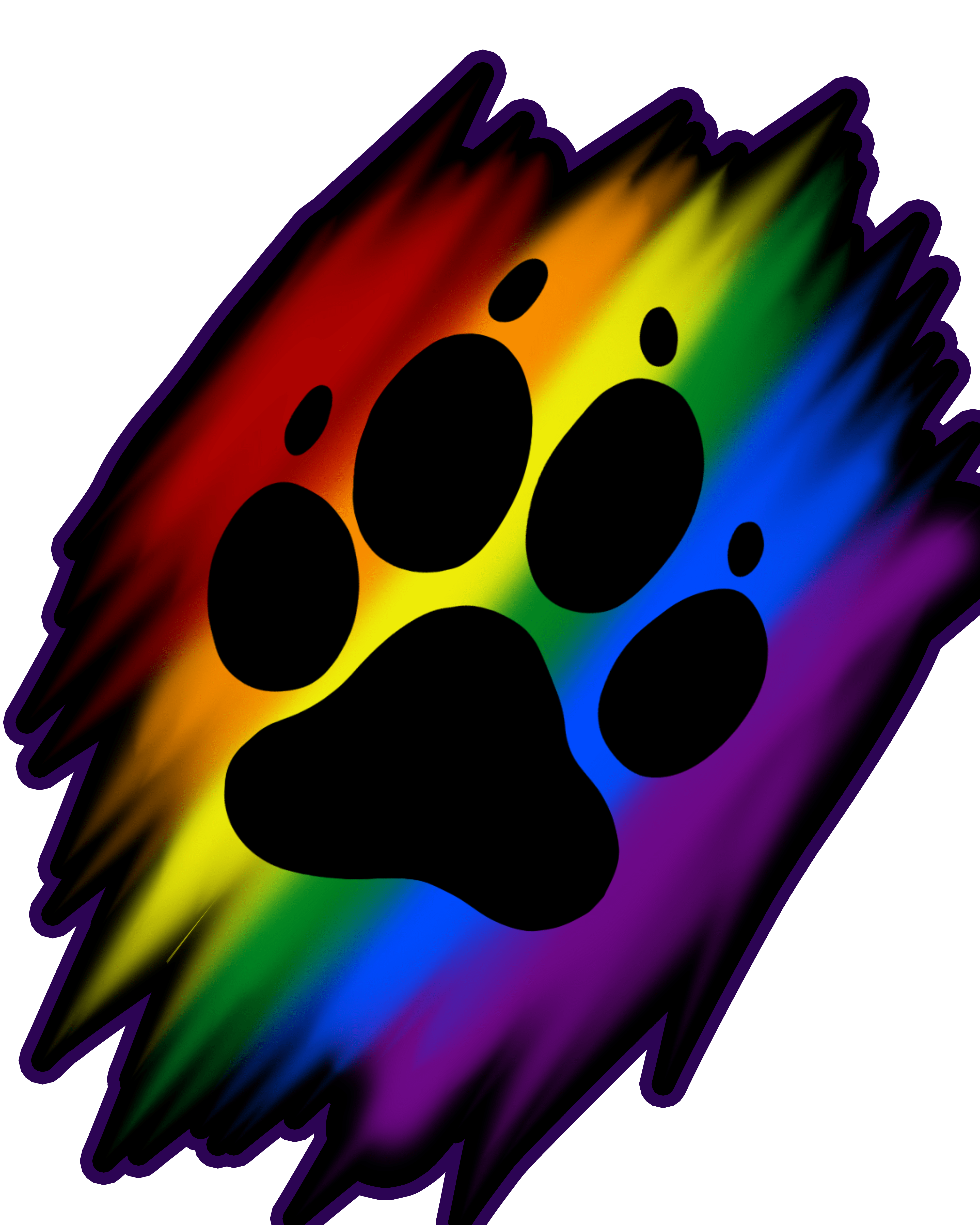 Paw clipart rainbow. Print artworktee