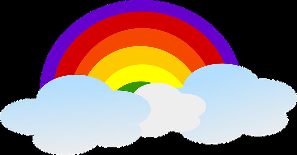 Worm clipart rainbow. Forgetmenot clouds lightnings publicat