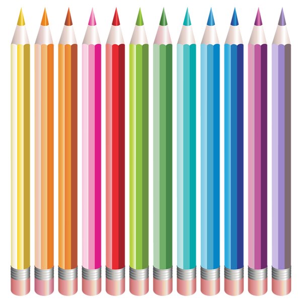 Clipart school watercolor. Pencils set png image