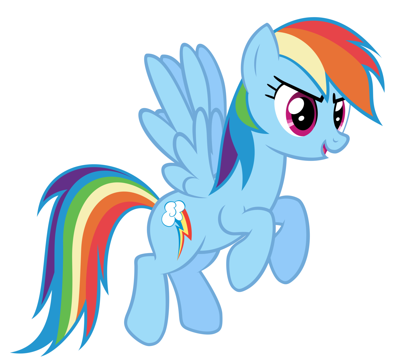 Clipart rainbow pony. Image fanmade dash flying