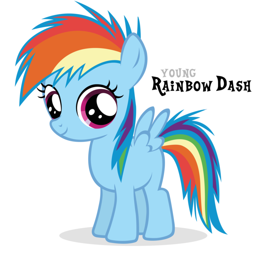 Image dash filly by. Clipart rainbow pony