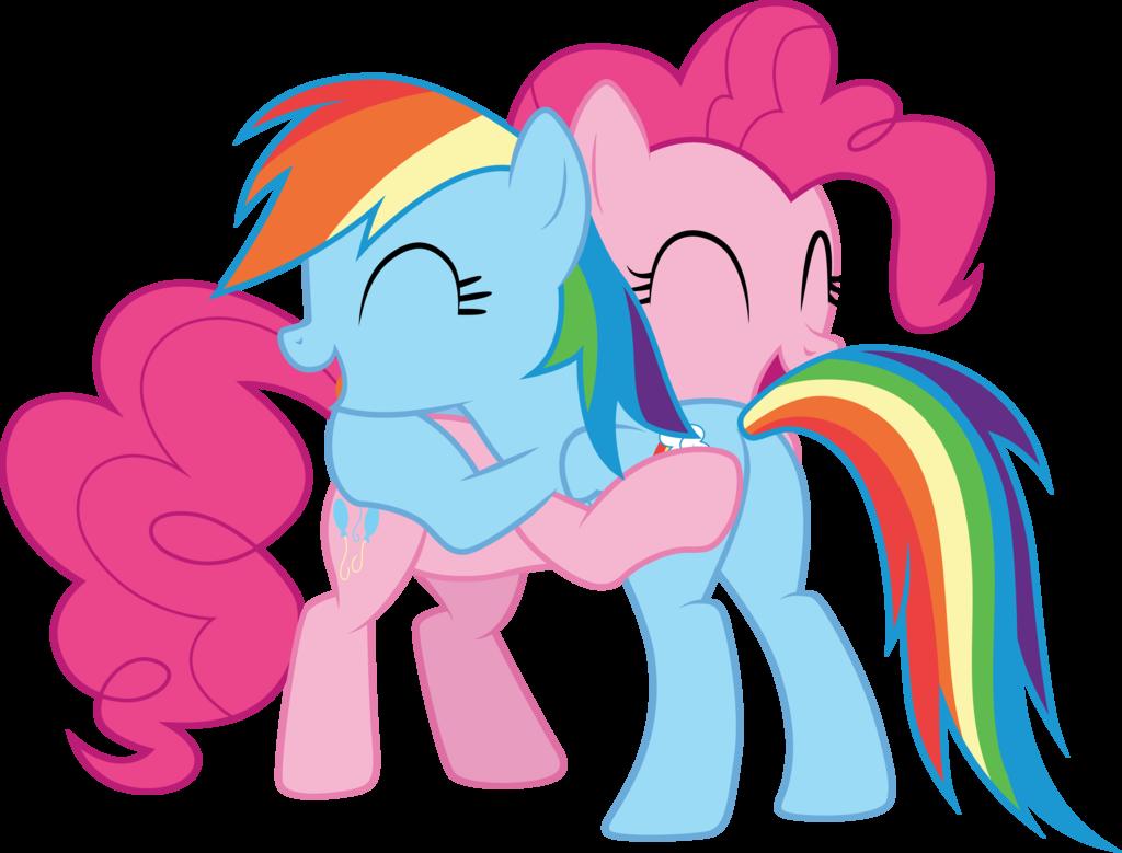 Pinkie pie and dash. Clipart rainbow pony