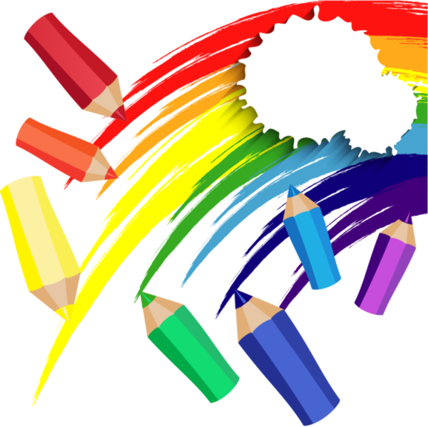 Clipart rainbow preschool. Articles d ecole accessories