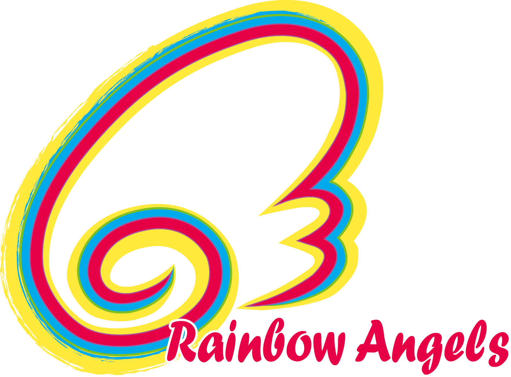 Angels childcare daycare logo. Clipart rainbow preschool
