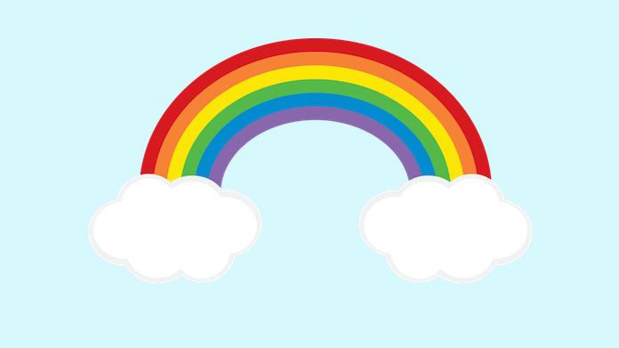 Clipart rainbow preschool. Freebie and link love