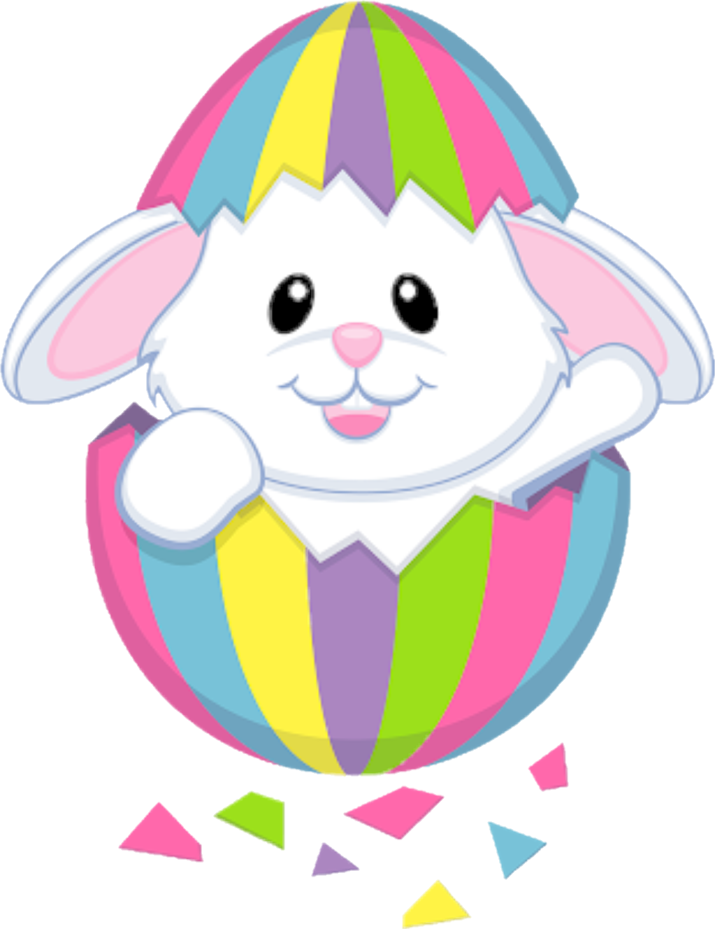 Clipart rainbow rabbit. Freetoedit rabbits colors easter