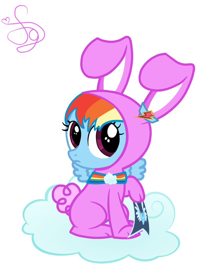 Raibow dash by kristiesparcle. Clipart rainbow rabbit