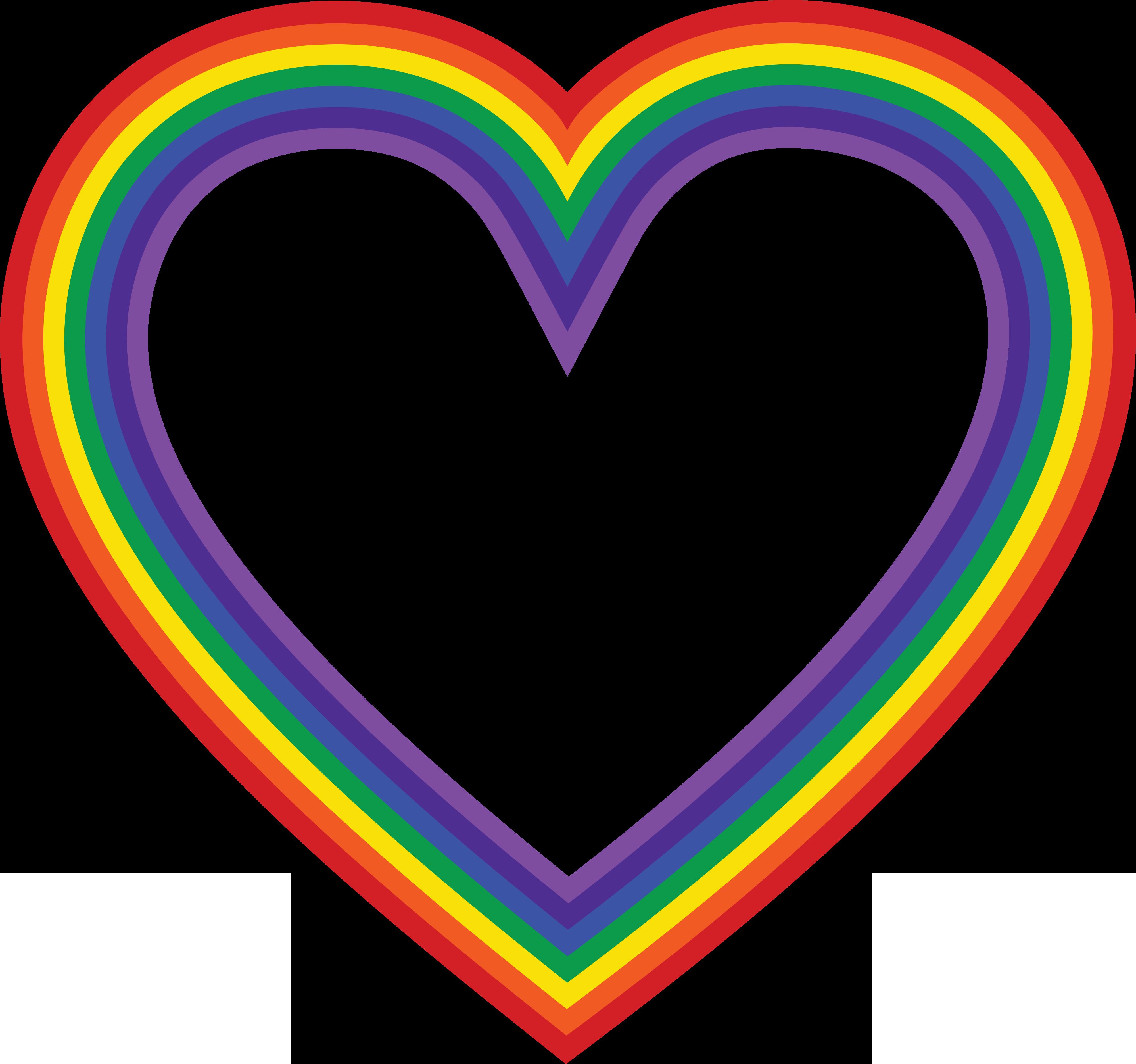 Heart clipart crayon. The rainbow clip art