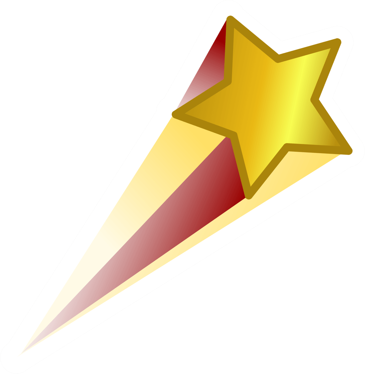 Transparent png images page. Gold clipart shooting star