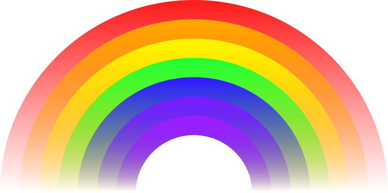 Free rainbow gifs vectors. Colors clipart animated